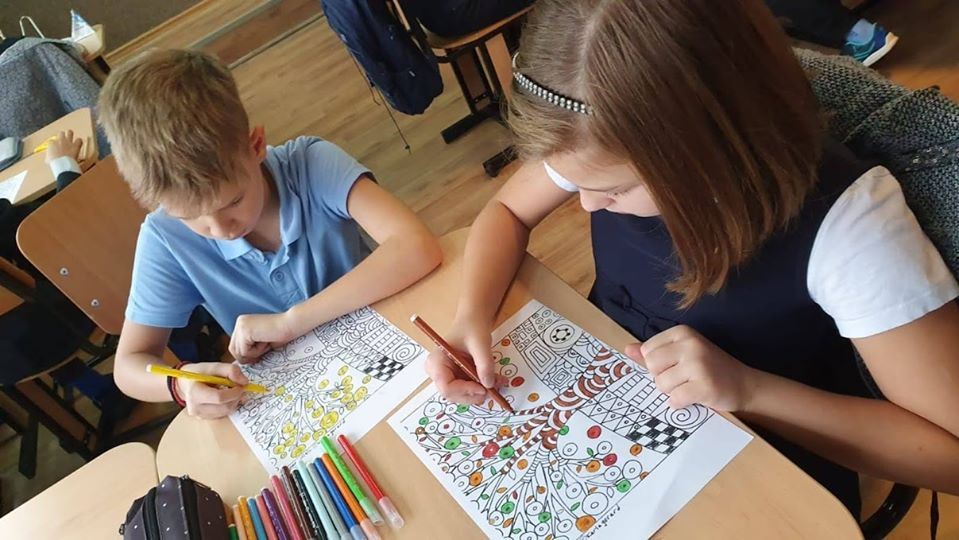 Growing up with Values from Storytelling - Romania - Tolerance - Coloring 1