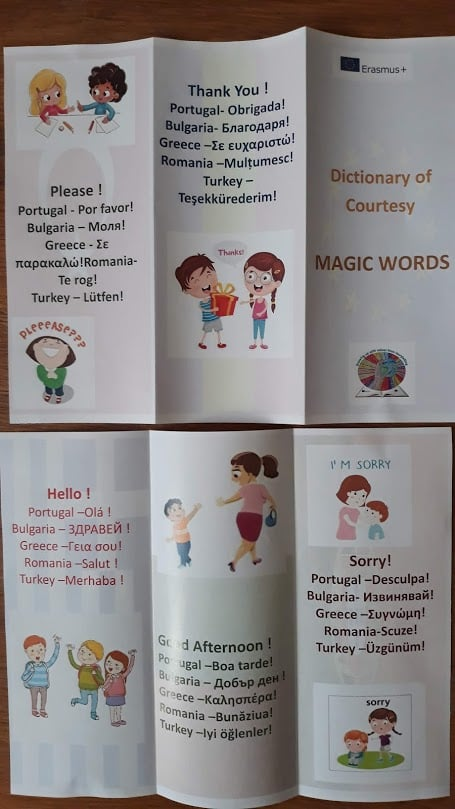 Growing up with Values from Storytelling - Romania - Courtesy - Dictionary of Courtesy 2