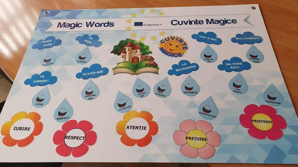 Growing up with Values from Storytelling - Romania - Courtesy - Board of Magic Words