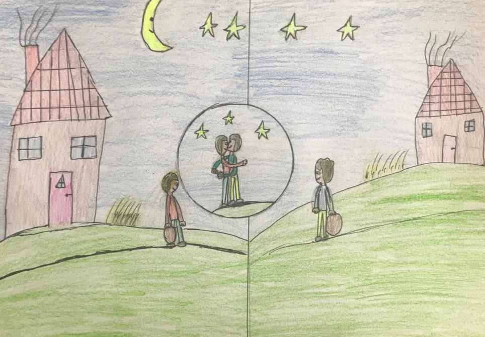 Growing up with Values from Storytelling - Romania - April 20 - Month of Sharing - Drawings about the story