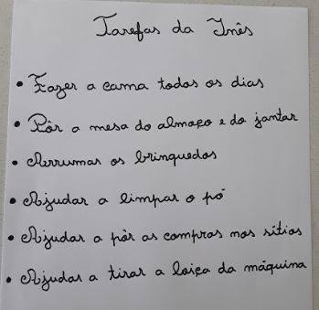 Growing up with Values from Storytelling - Portugal - May 20 - Month of Labour - List of Tasks