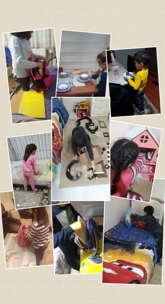 Growing up with Values from Storytelling - Turkey - May 2020 - Month of Labour - House Tasks