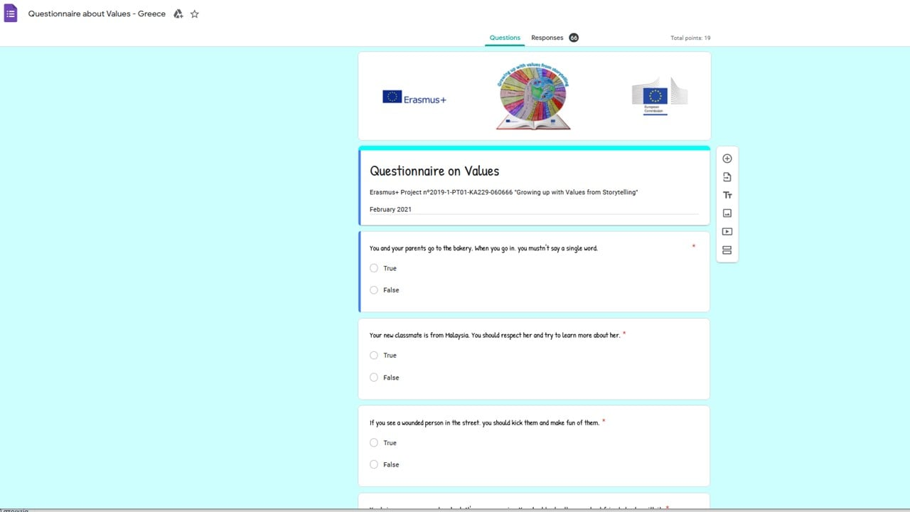Greece – Questionnaire of Values